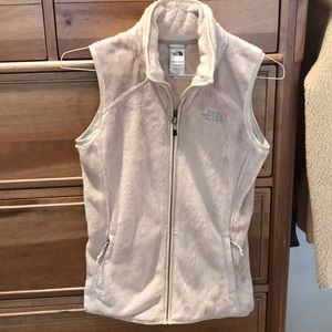 North Face fuzzy vest size xs
